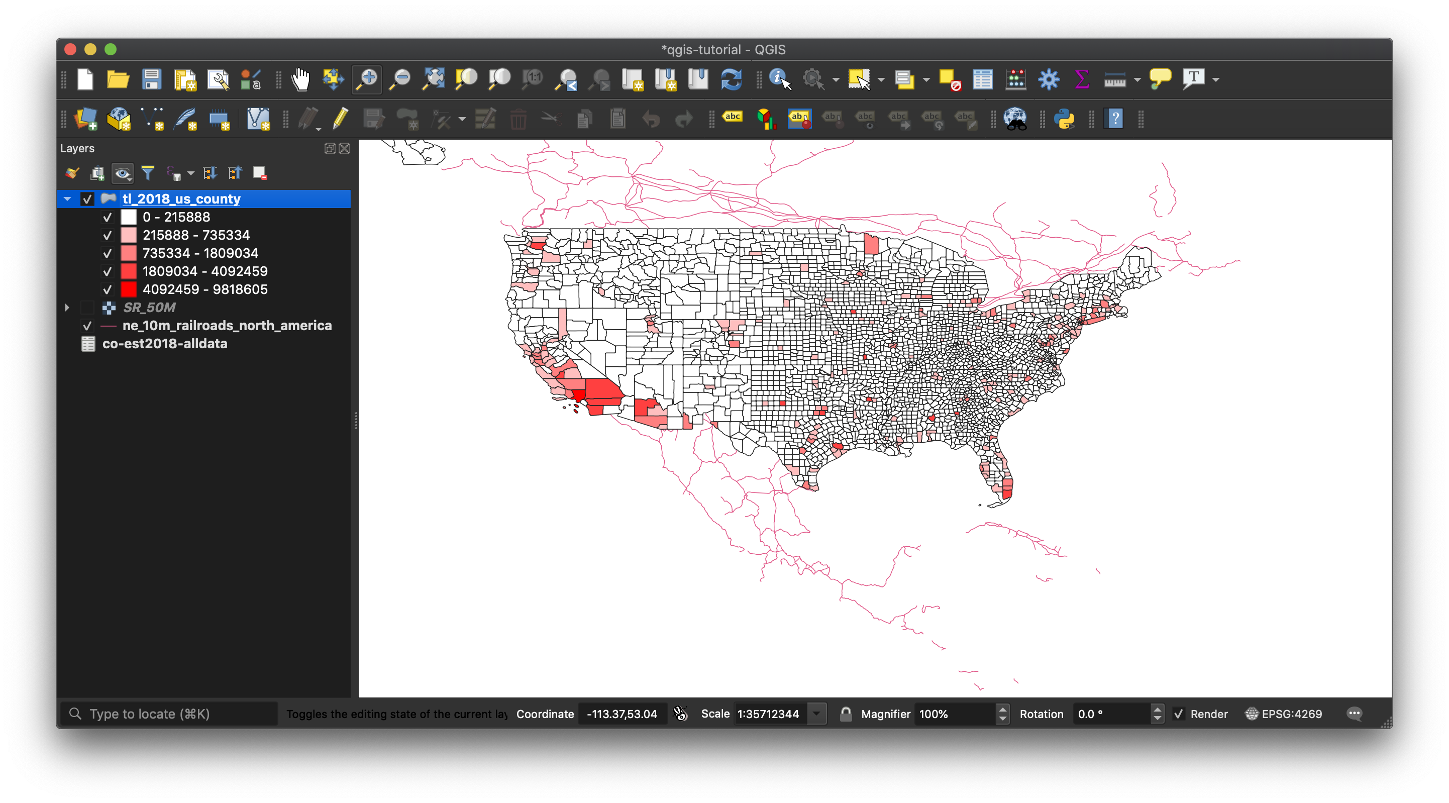Linking and Styling Data with QGIS on orange county maps, nws county maps, google county maps,
